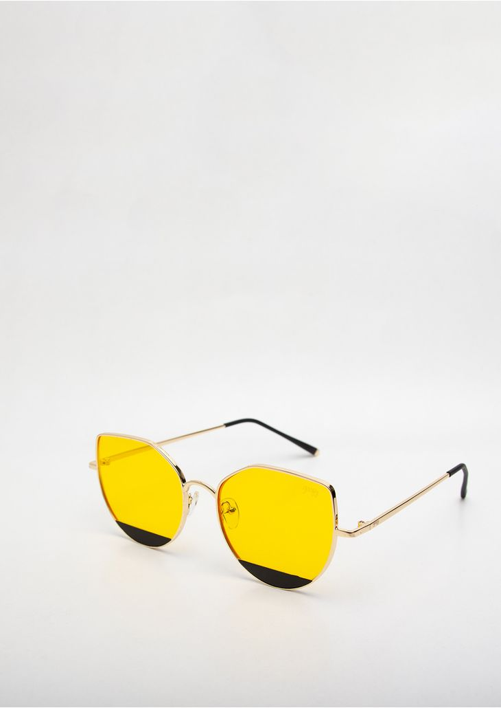 2739240bb6fdc -Oculos-de-Sol-Goofy-Gatinho-Soul-Amarelo. retornar para Acessórios