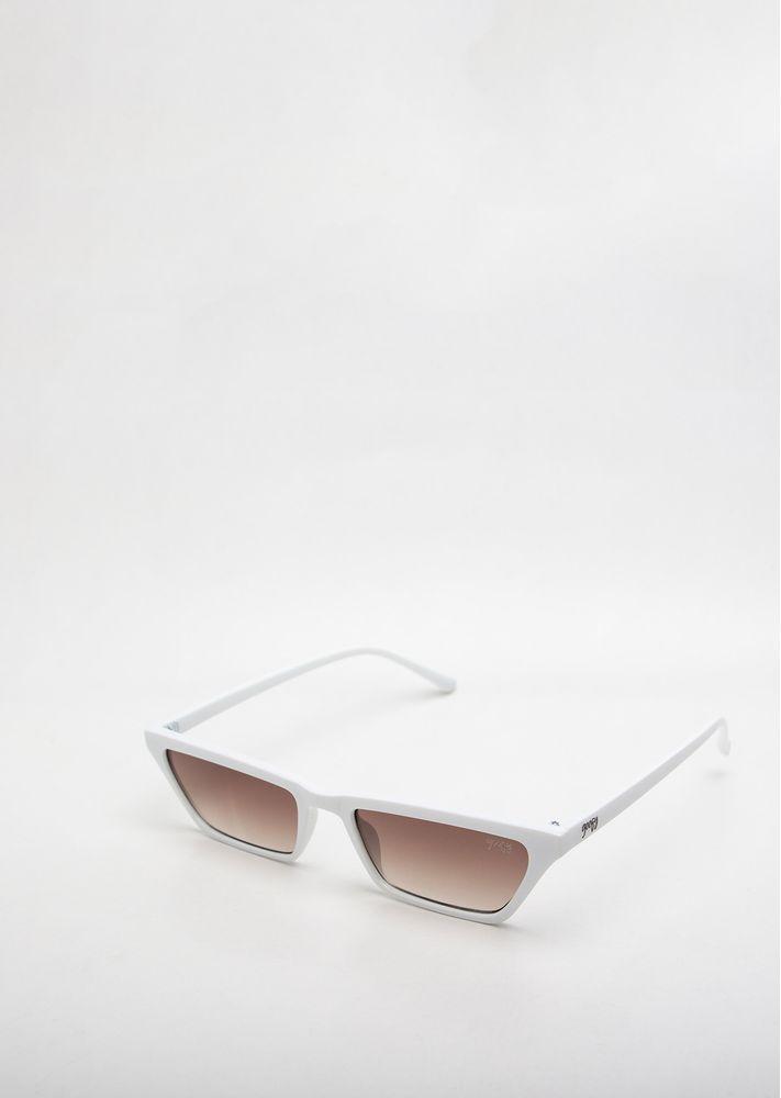 5dfdc626b Óculos de sol Goofy Retro Stretch Branco e Marrom - goofy