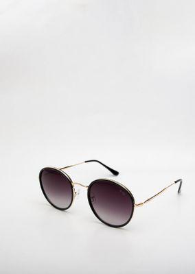 -Oculos-de-Sol-Goofy-Redondo-Preto-Dourado-