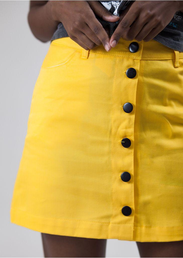 Saia-Cintura-Alta-Amarelo