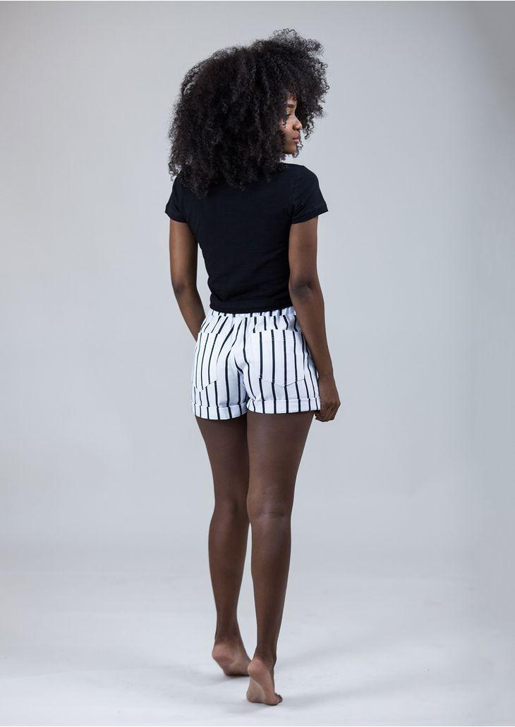 Shorts-Elastico-Listra-Preto