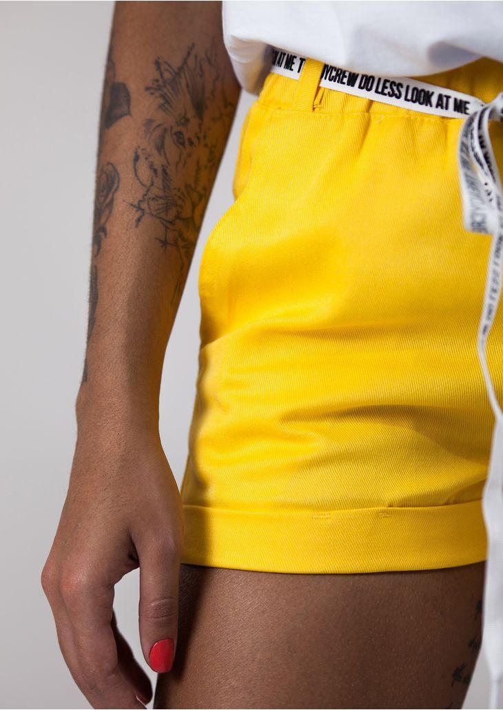 Shorts-Elastico-Amarelo