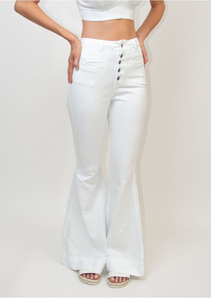 Calca-Jeans-Goofy-Flare-Branca