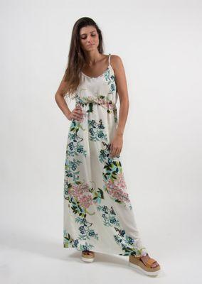 Vestido-Goofy-longo-branco-Floral