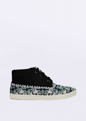 Tenis-Lovely-Floral-Preto