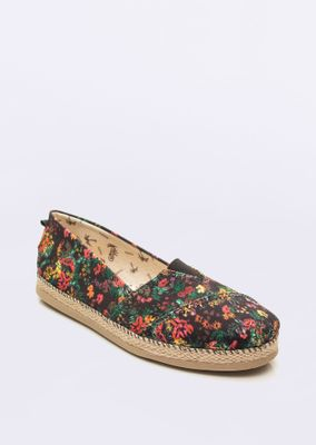 Sandalia-New-Happy-Floral-Preto