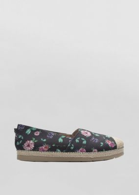 alpargata-goofy-holiday-floral-preto