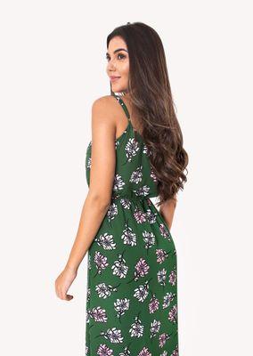 Vestido-Longo-com-Alcinha-Verde-Floral