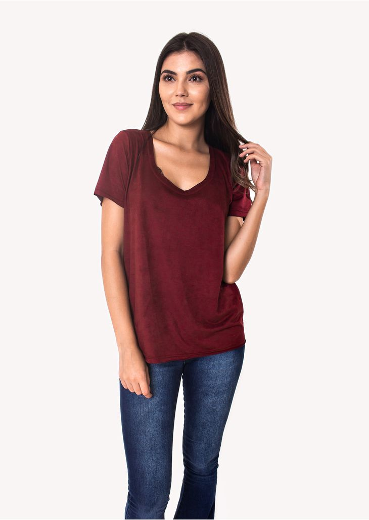 Camiseta-Suede-Vinho