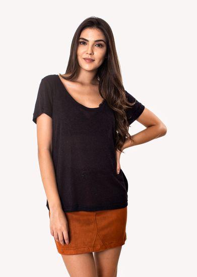 Camiseta-Podrinha-Linho-Preta