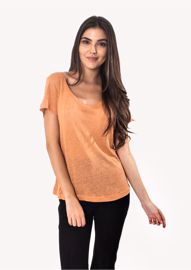 Camiseta-Podrinha-Linho-Rose