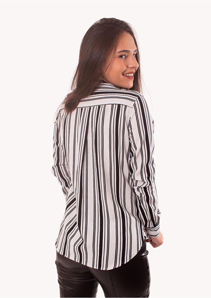 Camisa-Goofy-Linho-Listrado-Preto-e-Branco