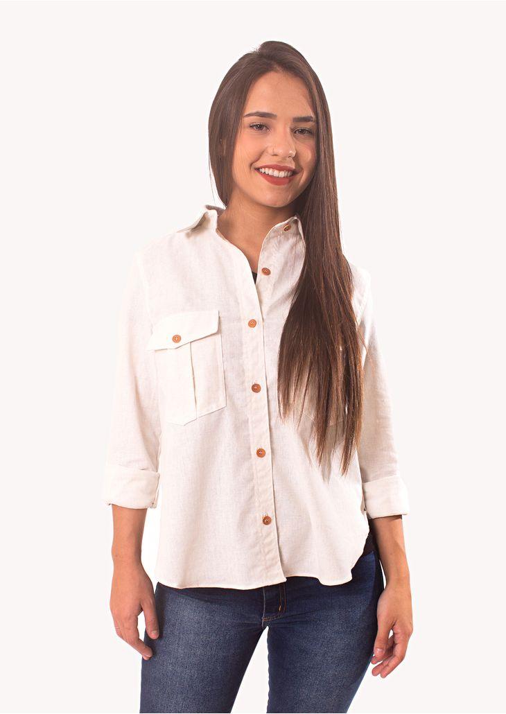 Camisa-Goofy-Linho-Off-White